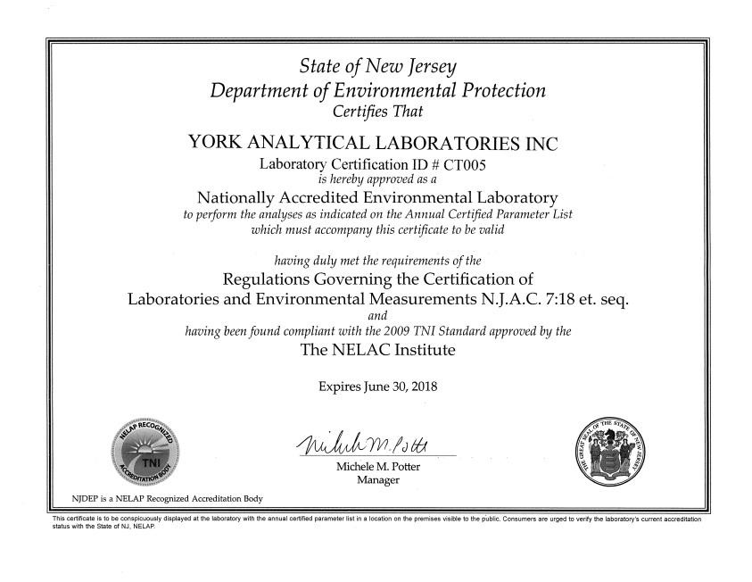 Qualifications York Lab
