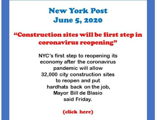 NYC to open up new job sites Monday