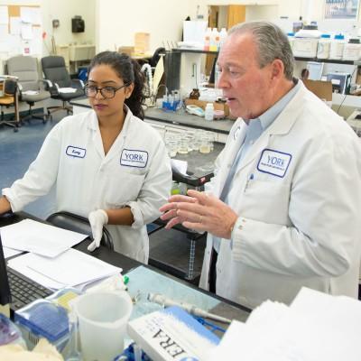 Bob Bradley, York's Chief Technology Officer testing PFAS in York's Analytical Lab